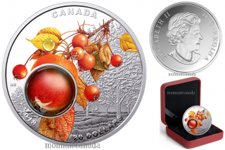 2018 - $20 - 1 oz. Pure Silver Coloured Coin - Mother Nature's Magnification: Morning Dew