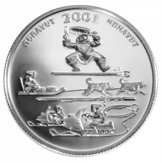 2001 Canada 50 Cents Sterling Silver - Nunavut Toonik Tyme - Festivals of Canada