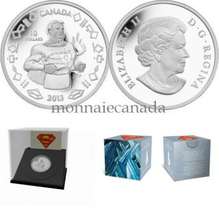 2013 - $10 - 1/4 oz Fine Silver Coin - Vintage Superman