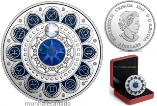 2017 - $3 - Pure Silver coin – Zodiac - Sagittarius