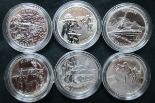 2005 50-Cent Silver Six-Coin Set - 60th Anniversary of the End of the Second World War