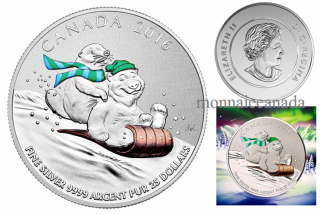 2016 - $25 For $25 - Fine Silver Coin – Winter Fun