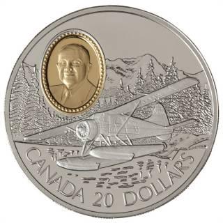 1991 Canada $20 Dollars Sterling Silver - The Havilland Beaver