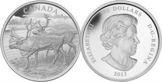 2013 - $250 - Pure Silver 1 Kilo Coin - The Caribou