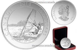 2015 - $10 - 1/2 oz. Fine Silver - Adventure Canada - Windsurfing