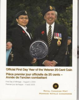 2005 - 25-cent coin official first day - Year of the veteran