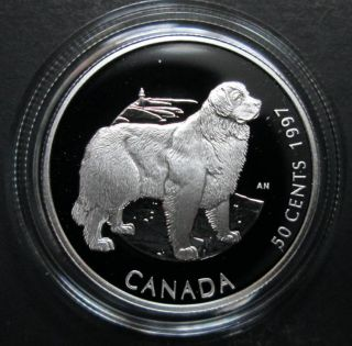 1997 Canada 50 Cents Sterling Silver - Newfounland Dog