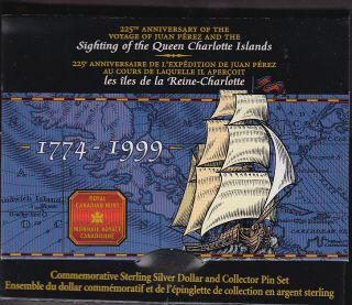 1999 Canada Cased Brilliant Uncirculated Silver Dollar  Perez