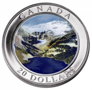 2003 - $20 -FINE SILVER THE ROCKIES HOLOGRAM