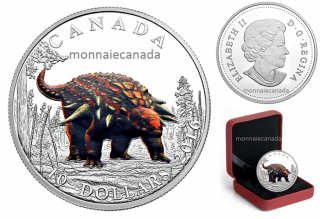2016 - $10 - Fine Silver Coloured – Day of the Dinosaurs - Armoured Tank