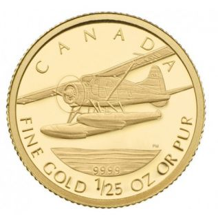 2008 - 50 cents - de Havilland Beaver 1/25oz Fine Gold Coin