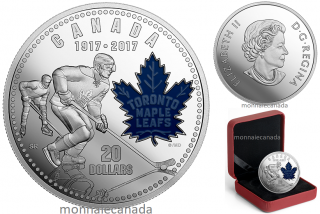 2017 - $20 - 1 oz. Pure Silver Coin - The Toronto Maple Leafs®: 100 Years of Passion