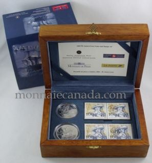 2004 - ILE SAINTE-CROIX COINS AND STAMP SET