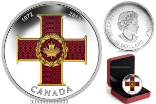 2017 - $20 - 1 oz. Silver Coloured Coin - Canadian Honours: 45th Anniversary of The Cross of Valour