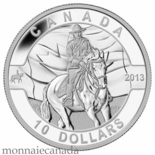 2013 - $10 1/2 oz Fine Silver Coin - The RCMP