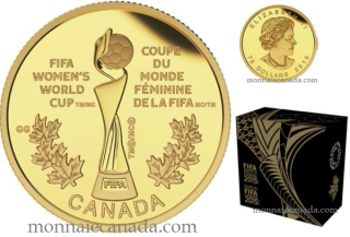 2015 - $75 - 1/4 oz. Pure Gold Coin - FIFA Women's World CupTM/MC : The Trophy