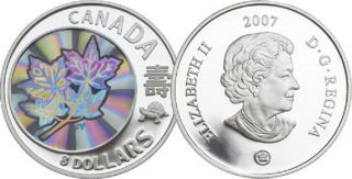 2007 $8 Fine Silver Coin - Maple of Long Life - TAX Exempt