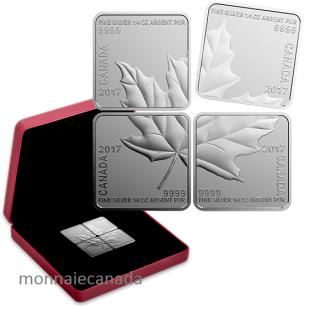 2017 - $3 - Pure Silver Maple Leaf Quartet