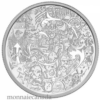 2014 - $30 - 2 oz. Fine Silver Coin - Canada Through the Eyes of Tim Barnard
