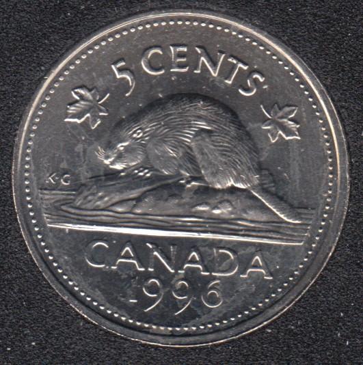 1996 - B.Unc - Near '6' - Canada 5 Cents