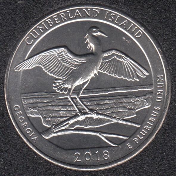 2018 P - Cumberland Island - 25 Cents