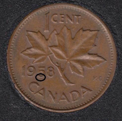 1958 - Dot 5 - Canada Cent