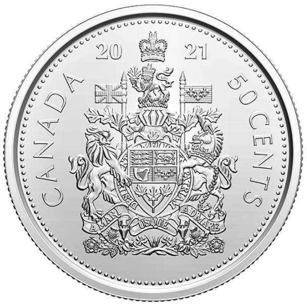 2021 - B.Unc - Canada 50 Cents