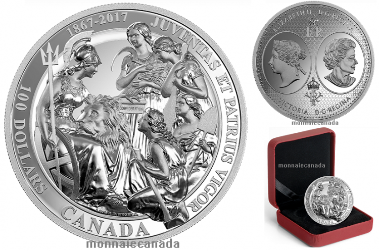 2017 100 10 Oz Pure Silver Coin Canadian
