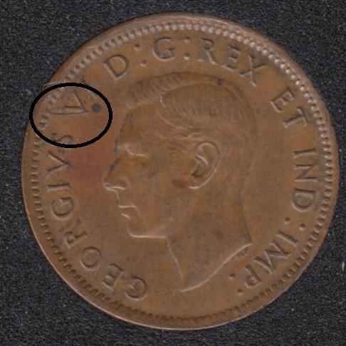 1946 - Break V to Rim - Canada Cent