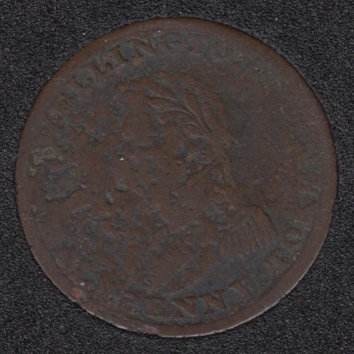 WE 1814 - Wellington - Half Penny - WE-8A2