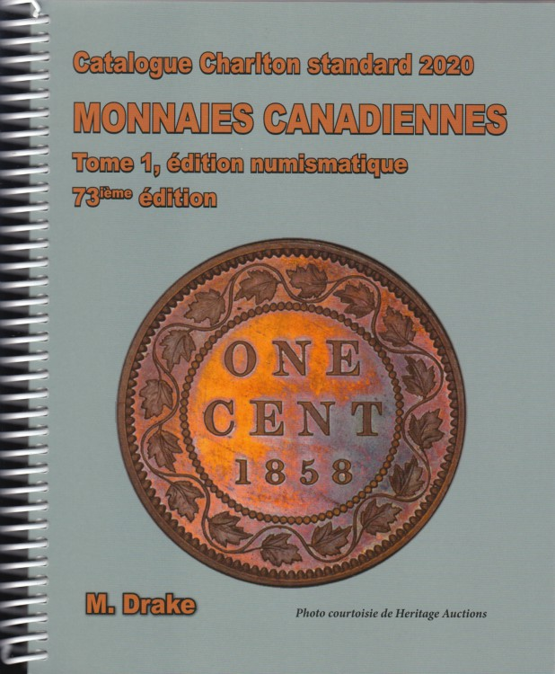 2020 Charlton Canadian Coins, Vol 1 Numismatic Issues, 73th Edition - FRENCH