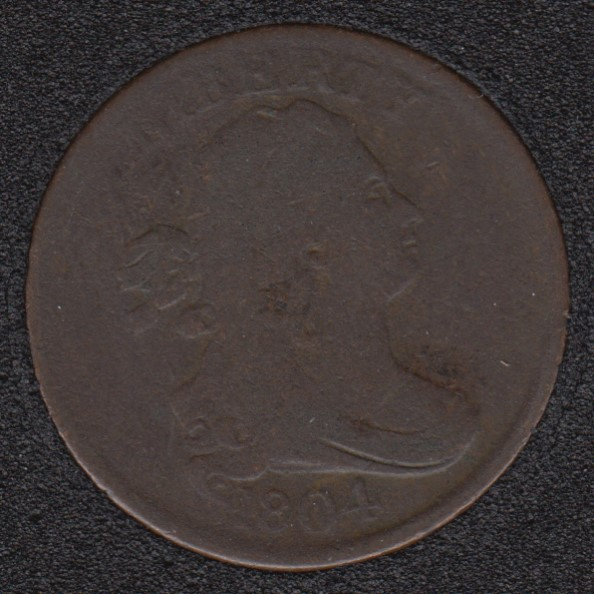 1804 - Crosslet '4' Stems to Wreath - Draped bust Demi Cent