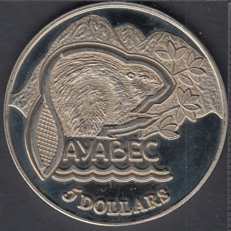 Sayabec - 1984 - Centenary - Matrice #2 - $5 Trade Dollar