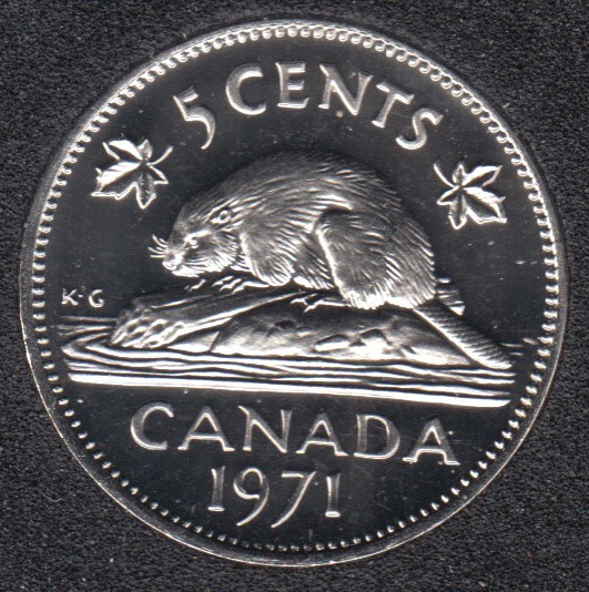 1971 - Proof Like - Canada 5 Cents