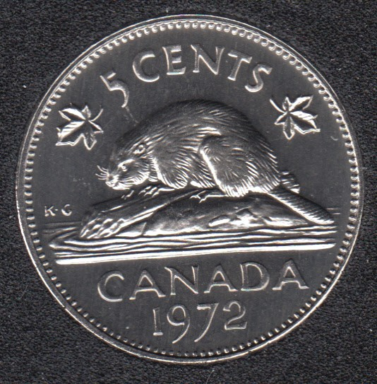 1972 - Proof Like - Canada 5 Cents