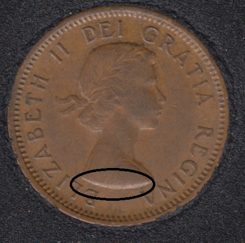 1955 - Break on Bust - Canada Cent
