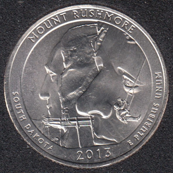 2013 P - Mount Rushmore - 25 Cents