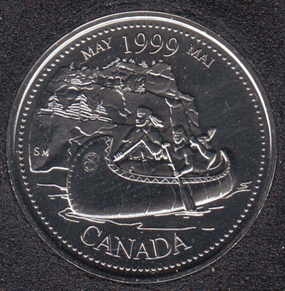 1999 - #5 NBU - May - Canada 25 Cents