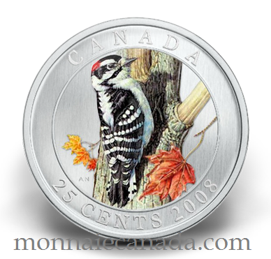 2008 Canada 25 cents Pic Mineur - Oiseau