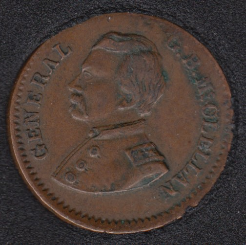 1864 - McClellan Pendleton Political Campaign Patriotic Civil War Token