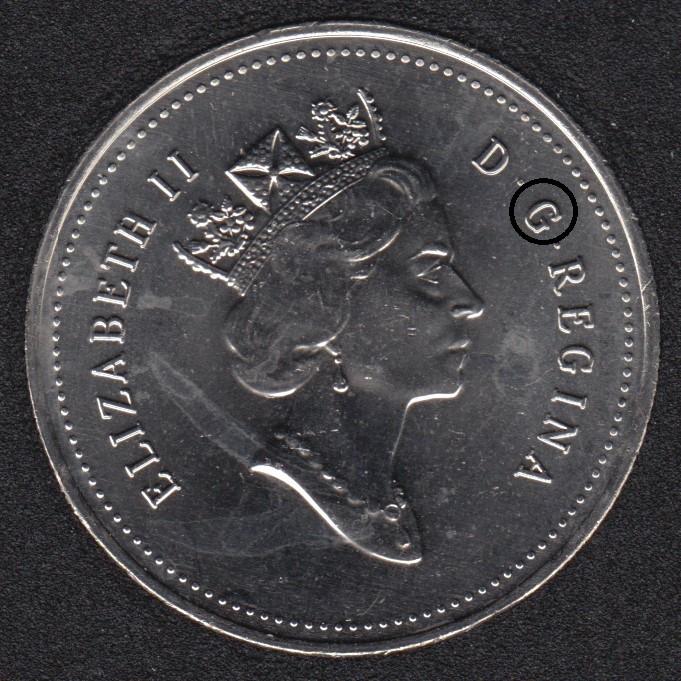 1994 - B.Unc - Dot sur le 'G' - Canada 50 Cents