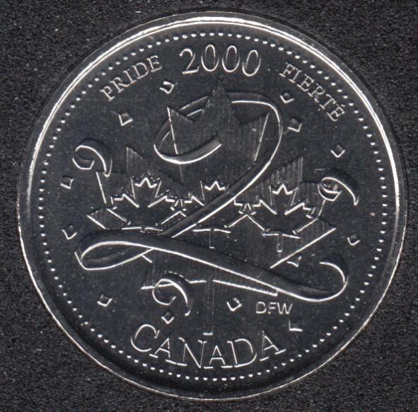 2000 - #1 NBU - Pride - Canada 25 Cents