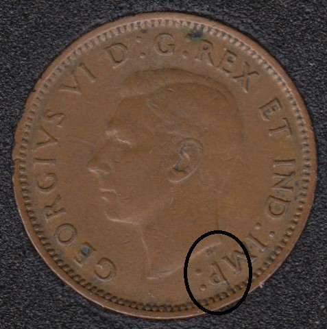 1943 - Break HP to P to Rim - Canada Cent