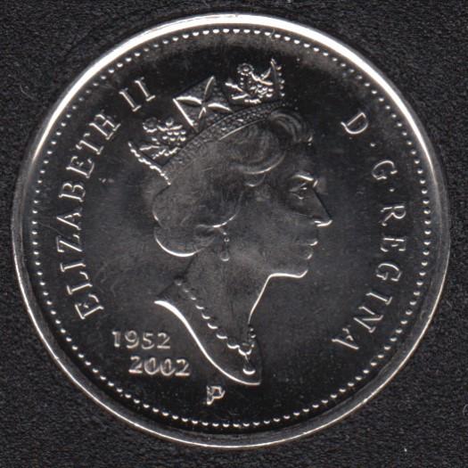 2002 - 1952 P - B.Unc - Canada 5 Cents
