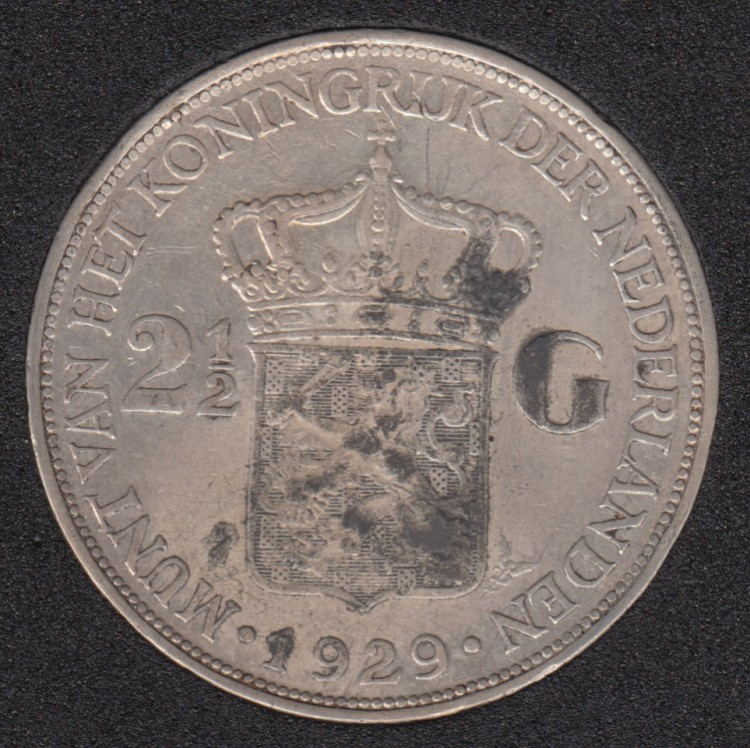 1929 - 2 1/2 Gulden - Netherlands
