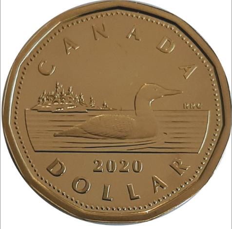 2020 - Proof - Canada Huard Dollar