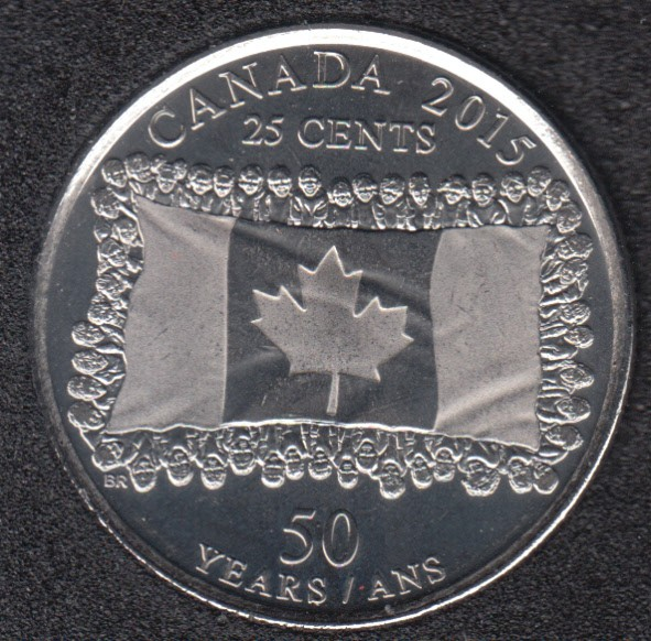 2015 - B.Unc - Flag - Canada 25 Cents