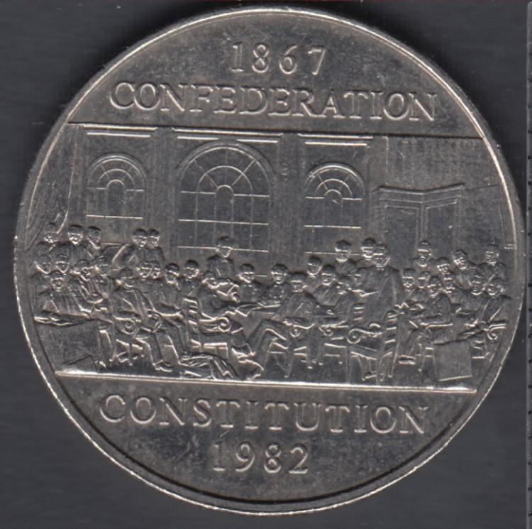 1982 - Constitution - Nickel - Canada Dollar