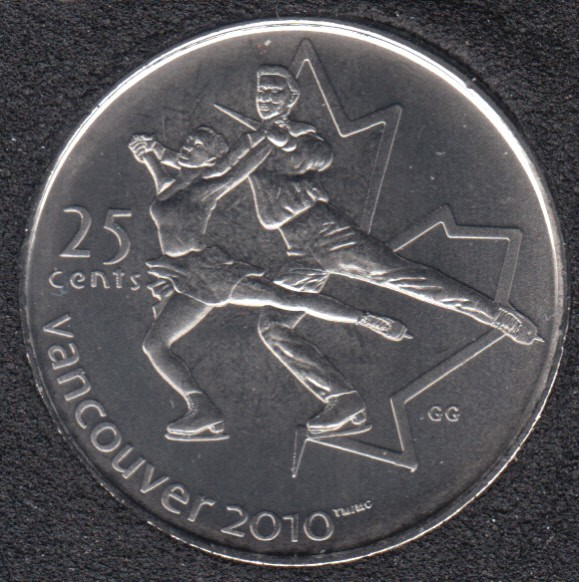 2008 - #3 B.Unc - Figure Skating - Canada 25 Cents