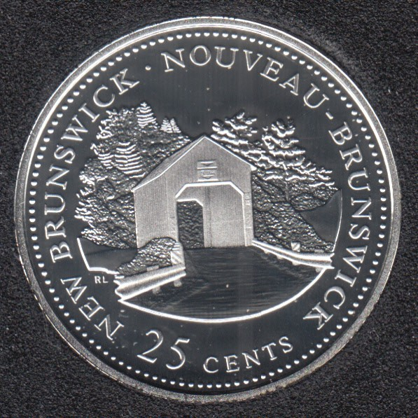 1992 - #1 Proof - Silver - New Brunswick - Canada 25 Cents